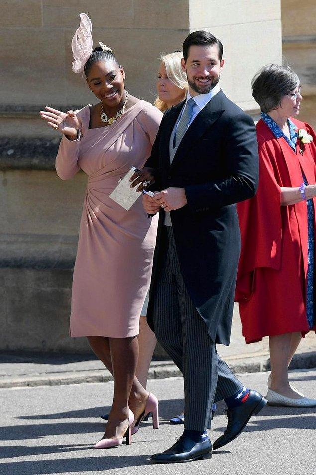 Serena Williams ve Alexis Ohanian da törenin dikkat çeken misafirlerinden.