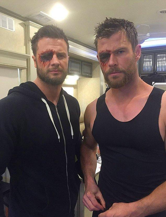 1. Biricik aşkımız Chris Hemsworth (Thor) ve dublörü Bobby Holland: