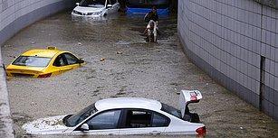 İş Yerlerini Su Bastı, Araçlar Alt Geçitte Mahsur Kaldı: 21 Fotoğrafla Ankara'daki Sağanak Yağışın Etkileri