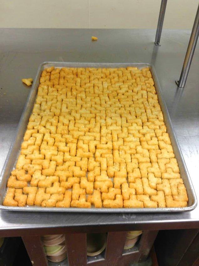 28. Tetris oyununu özleyen aşçılar :)