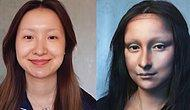 Makyajın Şaşırtıcı Gücünü Kullanarak Kendini Mona Lisa'ya Dönüştüren Japon Kadın