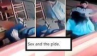 Börekçide Sevişen Çifti Sus İşareti Yaparak Dinlene Dinlene Döven Garsonlar