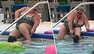 İnsanların Yüzdüğü Sırada Havuzda Bacaklarını Tıraş Eden Sülalesi Rahat Kadın