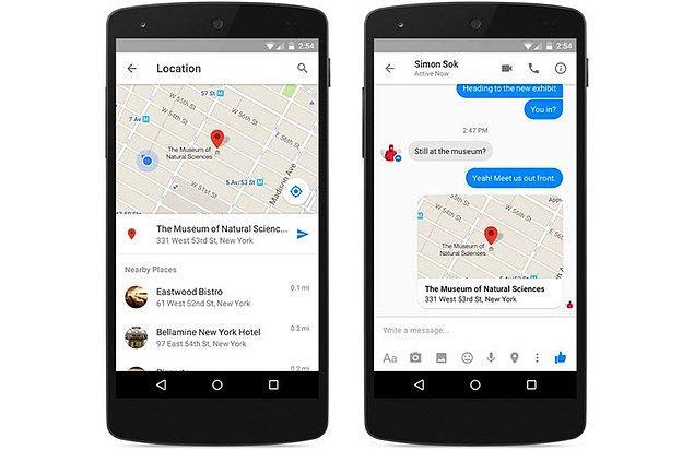 Facebook Messenger'dan Konum Nasıl Atılır?