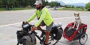 'İki Pedal Dört Pati' Diyerek Yola Çıktılar, Hayvan Hakları için Köpek Eska ile 4 Bin Km Yol Yaptılar