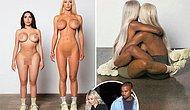 Kanye West Yeni Yeezy Ayakkabılarını Kim Kardashian Benzeri Çıplak Mankenler ile Tanıttı!