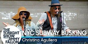 Christina Aguilera'dan New York Metrosunu Kullananlara Muhteşem Sürpriz