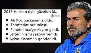 Aykut Kocaman'ın Gönderilmesini Sevinçle Karşılayan Fenerbahçe Taraftarları
