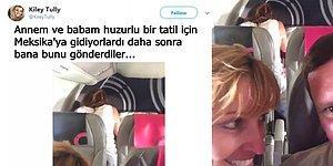 Huzurlu Bir Tatil İçin Bindikleri Uçakta, Arka Koltuktaki Sevişen Çifti Yakalayan Anne ve Baba