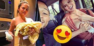 Bebek Emzirmek Konusundaki İçtenliğiyle İnsanların Kalbini Çalan Chrissy Teigen 😍