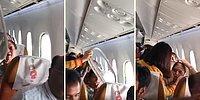 Yüzlerce Metre Yükseklikteyken Yanındaki Uçak Camı Çıkınca Şoka Giren Kadın