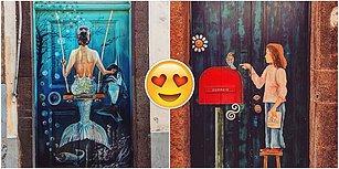 Sokakta Sanat Var! Madeira Adası'nın Sokaklarını Süsleyen ve Canlandıran Birbirinden Güzel 28 Kapı