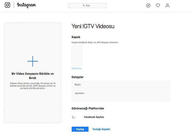 Ardından video yükleme ekranından video başlığı, kapağı ve açıklaması ile kolayca video yükleyebiliyorsunuz.