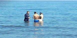 Filmin Adı 'Dip Dalga': Saadet Partili Adaydan Denizde İlginç Seçim Çalışması