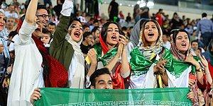 39 Yıl Sonra İranlı Kadınlar İlk kez Stadyumda Erkeklerle Birlikte Maç İzledi!