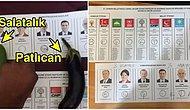 Oy Pusulalarının Fotoğraflarını Yaratıcı(!) Bir Şekilde Çekerek Sosyal Medyaya Aktaran 13 Paylaşımcı İnsan