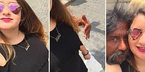 Telefonunun Ön Kamerasıyla Video Çeken Kadına Sürpriz Yapan Adam