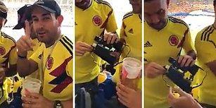 İnsanlar Yaratıcılıkta Sınır Tanımıyor: Dünya Kupası Maçına Dürbünün İçinde Alkol Sokan Taraftarlar