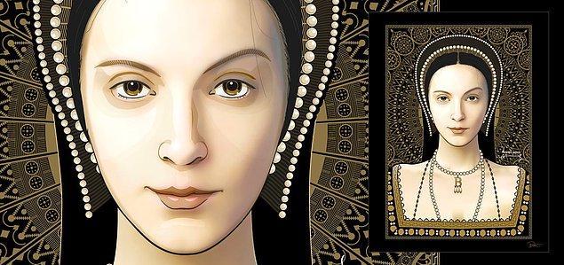 12. Anne'in diğer kadınlara kıyasla klasik bir güzelliği yoktu, ama cazibesini ön plana çıkarmayı çok iyi bilirdi. Özellikle uzun siyah saçları ve iri gözleri ile dikkat çekiyordu.