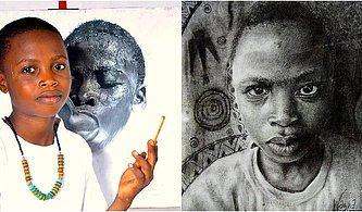 Çizdiği Hiperrealistik Portrelerle Ünlenen 11 Yaşındaki Nijeryalı Ressam Waspa'nın Çalışmaları Sizi Derinden Etkileyecek!