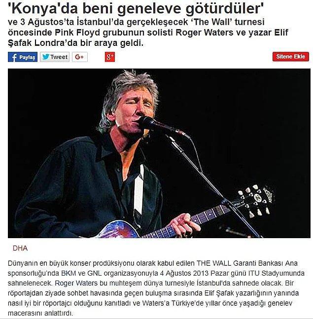 2. Pink Floyd'un efsane solisti ve başgitaristi Roger Waters Konya'da geneleve götürüldü.