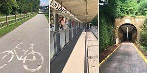 Avusturya'da Bisiklet Kullanan İnsanlar İçin Düşünülmüş Keşke Bizde de Olsa Dedirten Bisiklet Yolları