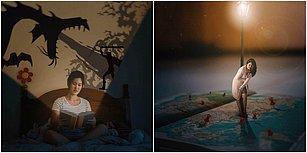 Kitap Tutkunları Buraya! Kendisini Kitapların Büyülü Dünyasına Taşıyan Sanatçıdan Nefes Kesen Kareler