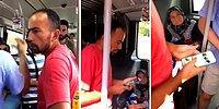 Metrobüste Bir Kadının Gizlice Fotoğrafını Çeken Sapık!