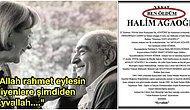 """""""Ben Öldüm!"""" Adalet Ağaoğlu'nun Eşi Halim Ağaoğlu Kendi Ölüm İlanını Kendisi Yazdı"""