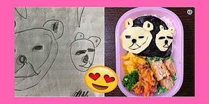 Çok Tatlı Değil mi? Kızının Çizimlerini Sevimli Yemeklere Dönüştüren Japon Komedyen