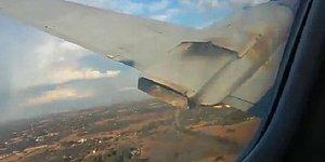 Havadayken Motoru Yanmaya Başlayan Uçağın İçinden Saniye Saniye Düşme Anları