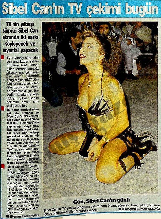 1987 (Sabah): Sibel Can'ın assolist olarak ilk kez yılbaşında televizyon ekranına çıkması