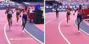Yarışı Kazandığını Zannedince Duraklayan Atlet Birincilikten Oldu!