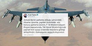 Ankara Patlama Sesi: 'Test Uçuşu Yapan F-16 Nedeniyle Meydana Geldi