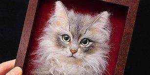 Japon Artist'in Keçe Kullanarak Yaptığı 3 Boyutlu Kedi Portrelerini Görünce Gözlerinizden Kalpler Fışkıracak!