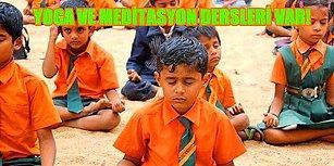 """Eğitimde Bir Başka Devrim: Hindistan'da Öğrenciler """"Mutluluk"""" Dersleri İle Güne Başlıyor"""