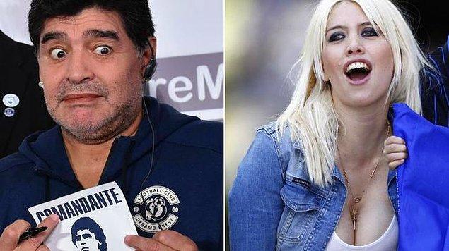 Arjantinli model Wanda Nara'nın yıllar önce Diego Maradona ile birlikte olduğu iddia edilmişti. Bu konu Arjantin'de uzun süre gündemi meşgul etmişti.