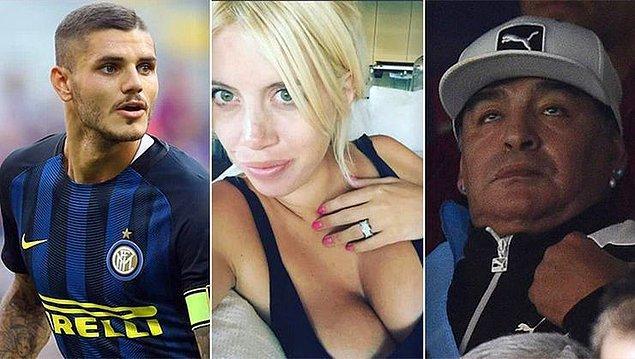 Şimdilerde Icardi ile evli olan Wanda Nara için bu kez Maradona ile yaşadığı aşkla gündeme geldi.