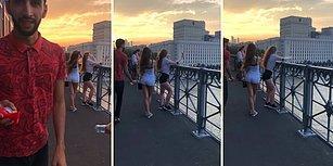 Selfie Çeken Kadını Kornayla Korkutarak Telefonunu Düşürten Rahatsız Adam