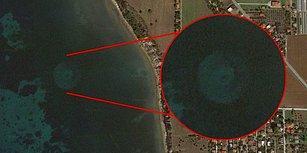 Yunanistan Topraklarının Uydu Görüntülerinde Göze Çarpan Bu Tuhaf Obje Bir UFO mu?