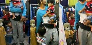 Fazla Çocuk Sahibi Olmanın Zararı: Çocuğu Zannettiği Cansız Mankenin Elini Tutmaya Çalışan Baba