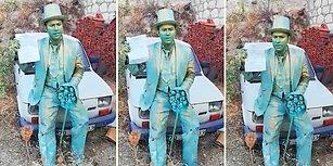 Canlı Heykel Sanatçısı Sokaktaki Gösterisi Yüzünden Para Cezası Yedi!