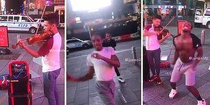 Sokak Müzisyeninin Performansına Danslarıyla Eşlik Ederek Dünyayı 1 Dakikalığına Güzelleştiren İnsanlar