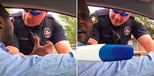 Baba Olacağını Eşinin Ufak Sürprizi Sayesinde Trafik Polisinden Öğrenen Adam