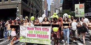'Ayıp Olan Savaştır,  Meme Uçlarım Değil!' Yüzlerce Kadın Üstsüz Dolaşma Hakkı İçin New York Sokaklarında Yürüyüş Yaptı!