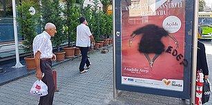 'Edep' Yazdılar: İzmit'te Anadolu Ateşi Afişindeki Erkek Dansçıya Boyalı Sansür!