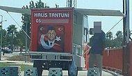 Bir Skandal Daha! Şehit Ömer Halisdemir'in Fotoğrafı Bu Kez Adana'da Bir Tantunici Tarafından Kullanıldı