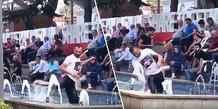Sıcaktan Bunalınca Soluğu Süs Havuzunda Alan Trabzonludan Bir Adanalıyı Aratmayan Hareketler