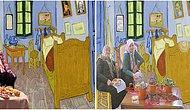 Van Gogh'un 'Yatak Odası' Çizimine Yapılmış Montelerle Sürrealistliğin Sınırlarını Zorlamış 15 Görsel