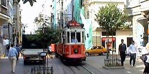 2001 Yılına Ait Nostalji Tadında İstiklal Caddesi Görüntüleri